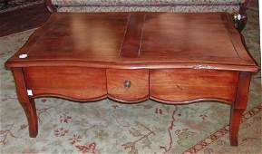 81 French ProvincialStyle Fruitwood Coffee Table