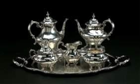 461: Six-Piece Silver Tea-and-Coffee Service