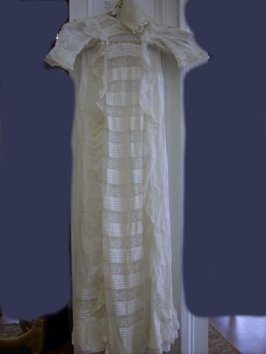 751: Good American Smocked and Lace Christening Dress