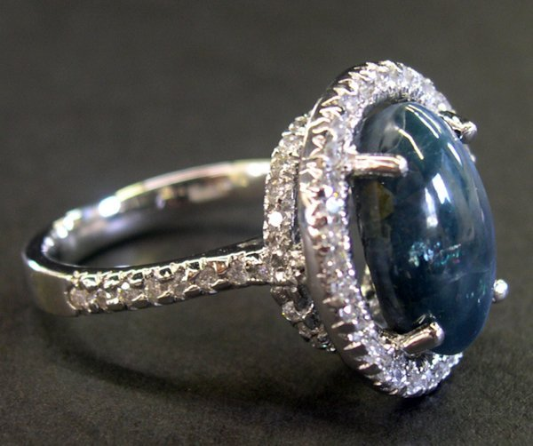 773: Gold and Cat's-Eye Alexandrite and Diamond Ring