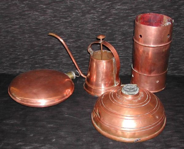 7: Group of Three Copper Items