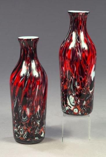 483: Pair of Murano Glass Vases