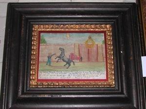 764: Spanish Colonial Polychromed Tin Panel