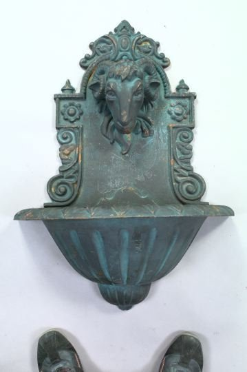 1054: Cast-Iron Wall-Mounted Fountain
