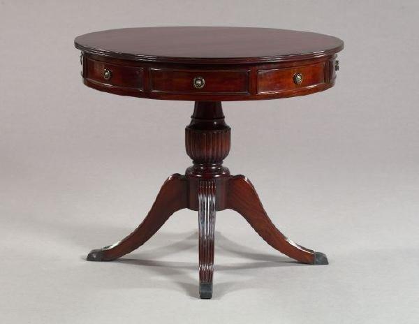 10: George III-Style Mahogany Pedestal Drum Table