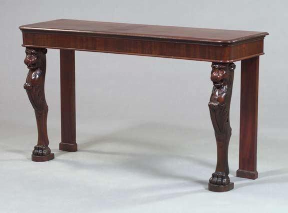16: Regency-Style Mahogany Side Table