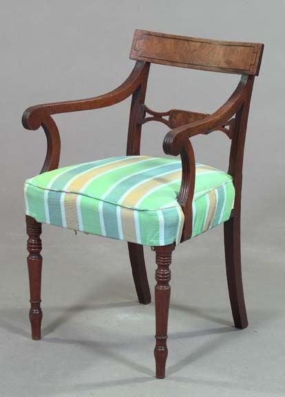 18: Regency-Style Mahogany Armchair