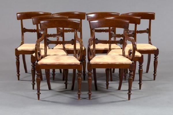 23: Eight Regency-Style Mahogany Dining Chairs