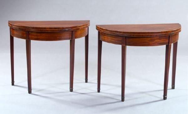 297: Hepplewhite String-Inlaid Mahogany Tables