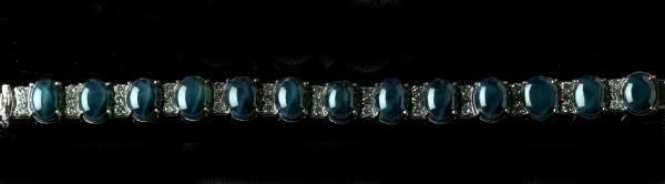 712: White Gold, Star Sapphire and Diamond Bracelet