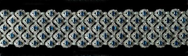 714: White Gold, Sapphire and Diamond Cuff Bracelet