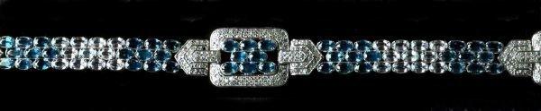 715: White Gold, Sapphire and Diamond Bracelet