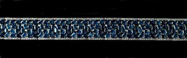 716: White Gold, Sapphire and Diamond Bracelet