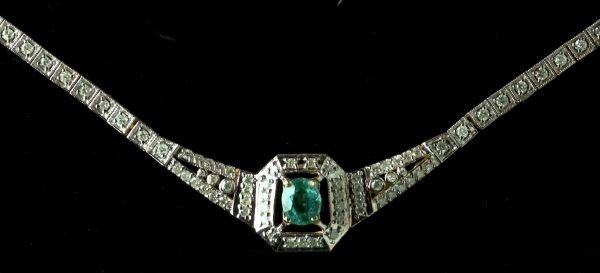 718: Gold, Paraiba Tourmaline and Diamond Necklace