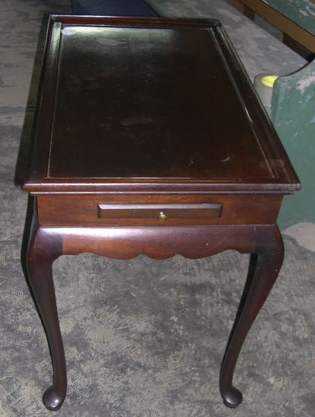 5: Queen Anne-Style Mahogany Silver Table