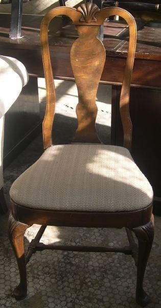 8: Queen Anne-Style Fruitwood Sidechair