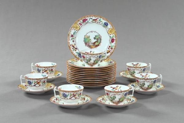 14: Spode Bone Porcelain Partial Tea and Dessert Servic