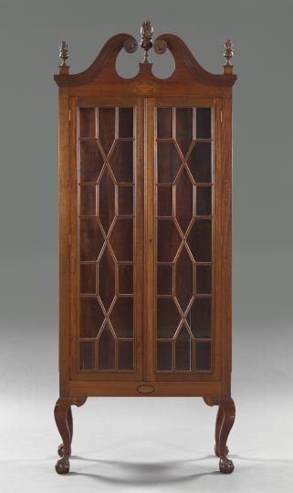 15: George III-Style Mahogany Cabinet,