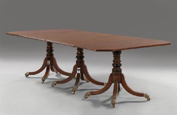 19: George III-Style Mahogany Dining Table,