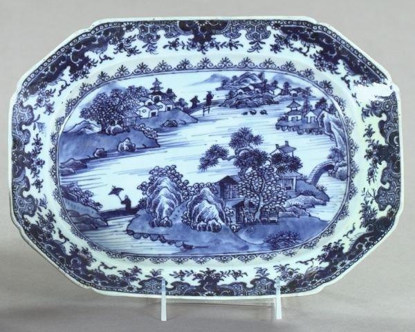 24: Chinese Export Blue-and-White Porcelain Platter
