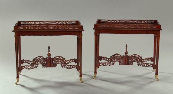 39: Pair of George III-Style Mahogany Silver Tables