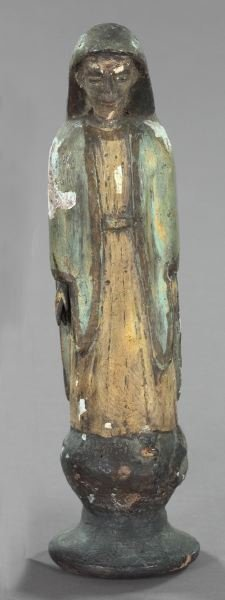 736: Spanish Colonial Carved and Polychromed Figure