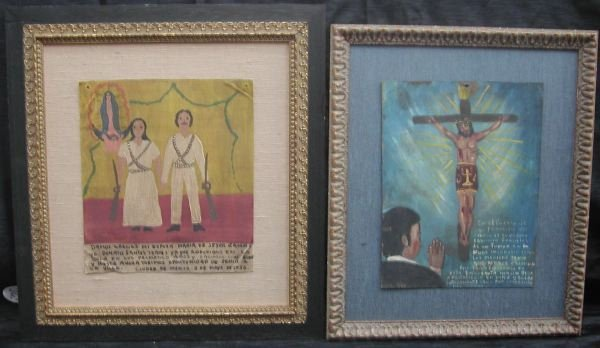 739: Two Mexican Tin Panels,