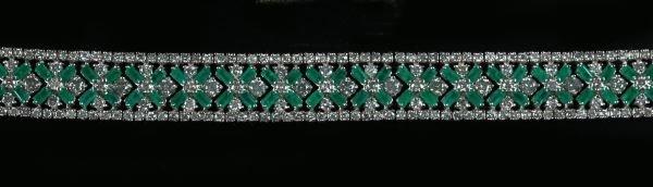 741: White Gold, Emerald and Diamond Bracelet