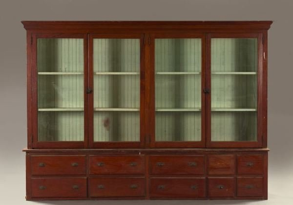 1001: Provincial American Cypress General Store Cabinet