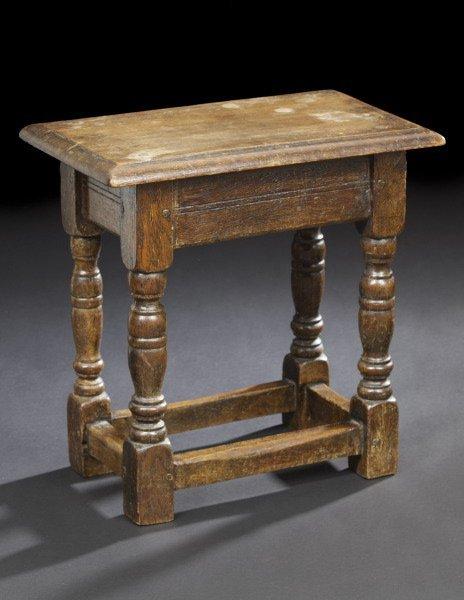 1: English Oak Stool,