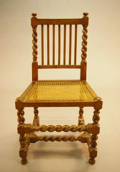 4: Country English Fruitwood Sidechair,
