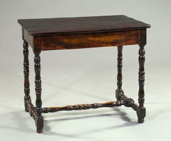 6: William and Mary-Style Hardwood Writing Table