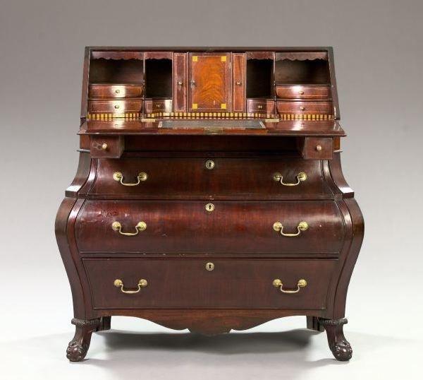 13: English Mahogany Slant-Lid Writing Desk