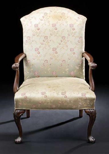 16: George III-Style Mahogany Armchair,