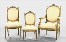 528 Louis XVIStyle SixPiece Giltwood Parlor Suite