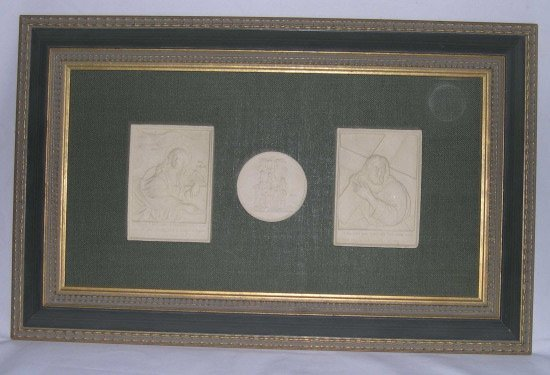 778: English Plaster Casts of Scenes from The Life of C