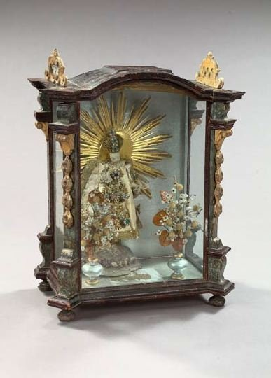783: Austrian Baroque, Parcel-Giltwood and Glass Vitrin