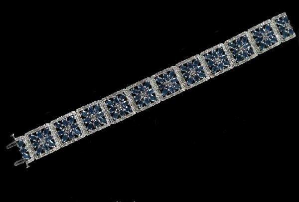 791: White Gold, Sapphire and Diamond Bracelet