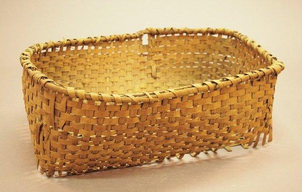 890: Louisiana Woven Splint Cotton Harvesting Basket