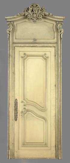 1096: French Paneled Doors and Doorway Surround