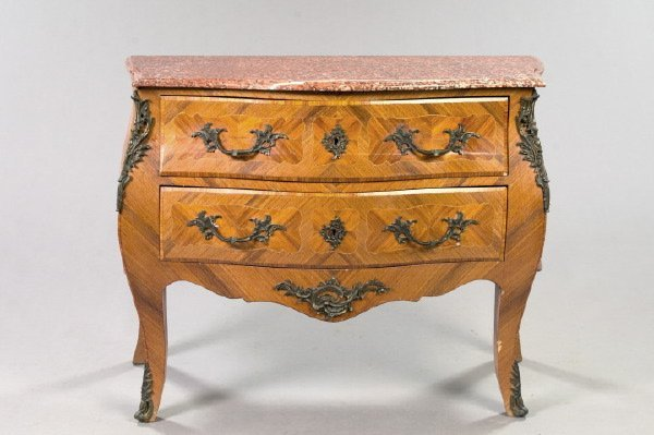 2: Regence-Style Kingwood and Marble-Top Commode