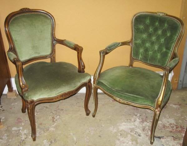 10: Near-Pair of Louis XV-Style Fauteuils,