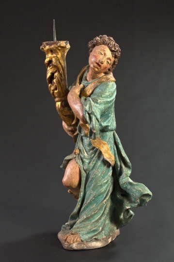 140: Continental Figural Pricket Candleholder