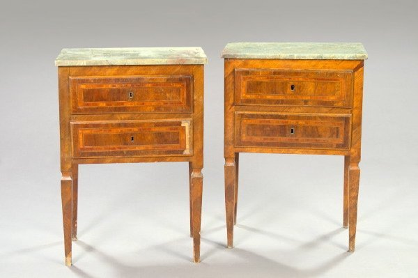235: Louis-Philippe Mahogany and Marble-Top Table