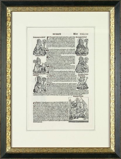 753: German 16th-Century Engraved Woodblock Pages