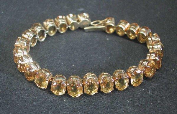 774: Vermeil and Citrine Link Bracelet,