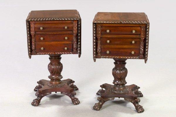 925: American Late Classical Revival Mahogany Tables