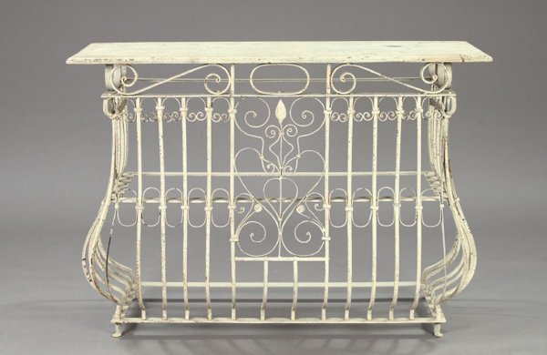 1152: Wrought-Iron Bombe Console Table