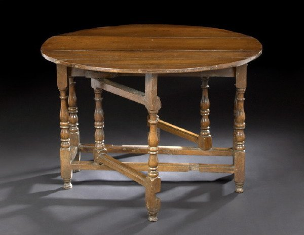 10: English Oak Gate-Leg Table,