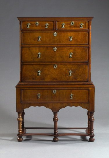 16: Early Georgian Walnut and String-Inlaid Chest